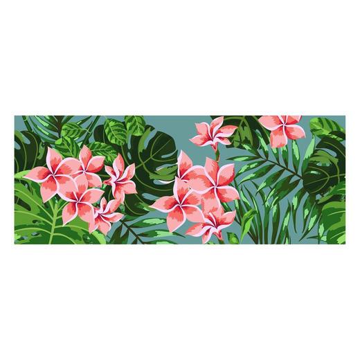LÄUFER  In-/ Outdoor 70/180 cm  Grün, Pink, Rosa - Pink/Rosa, Kunststoff (70/180cm)
