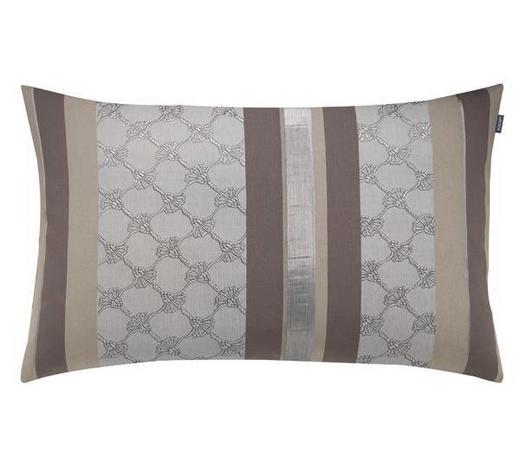 KISSENHÜLLE Braun, Creme, Grau 40/60 cm  - Creme/Braun, Textil (40/60cm) - Joop!