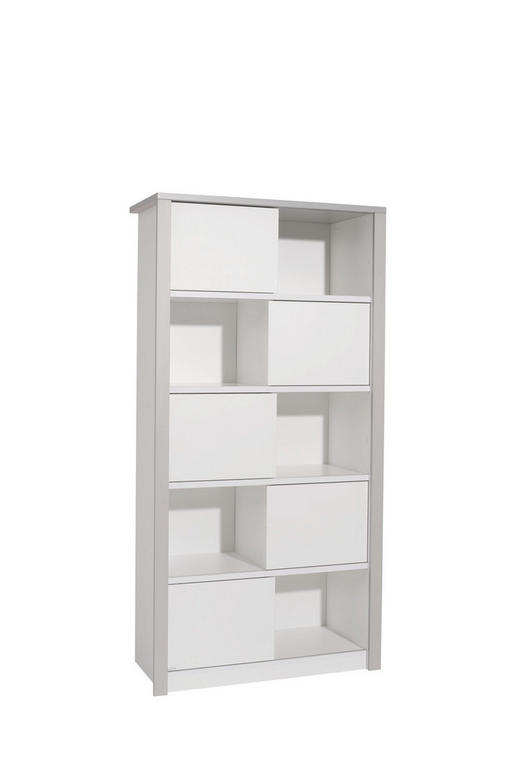 STANDREGAL in 93,7/183,5/42,9 cm Grau, Weiß - Weiß/Grau, KONVENTIONELL, Holzwerkstoff (93,7/183,5/42,9cm) - Paidi