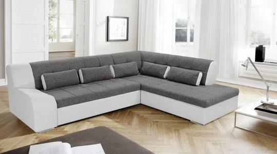 GARNITURA ZA DNEVNU SOBU - Crna/Siva, Dizajnerski, Tekstil/Plastika (285/220cm) - Boxxx