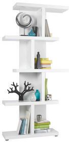 REGAL 89,9/184/29,6 cm bela - aluminij/bela, Design, umetna masa/leseni material (89,9/184/29,6cm) - Xora