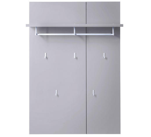 GARDEROBENPANEEL 80/116/30 cm - Grau, Design, Holzwerkstoff/Metall (80/116/30cm) - Xora