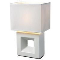 NAMIZNA SVETILKA C21100LS - bela, Trendi, tekstil/keramika (10/15/26cm) - Boxxx