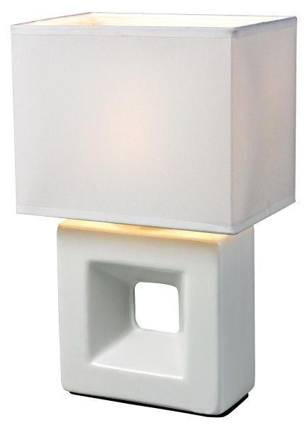 SVJETILJKA STOLNA - bijela, Lifestyle, tekstil/keramika (10/15/26cm) - BOXXX