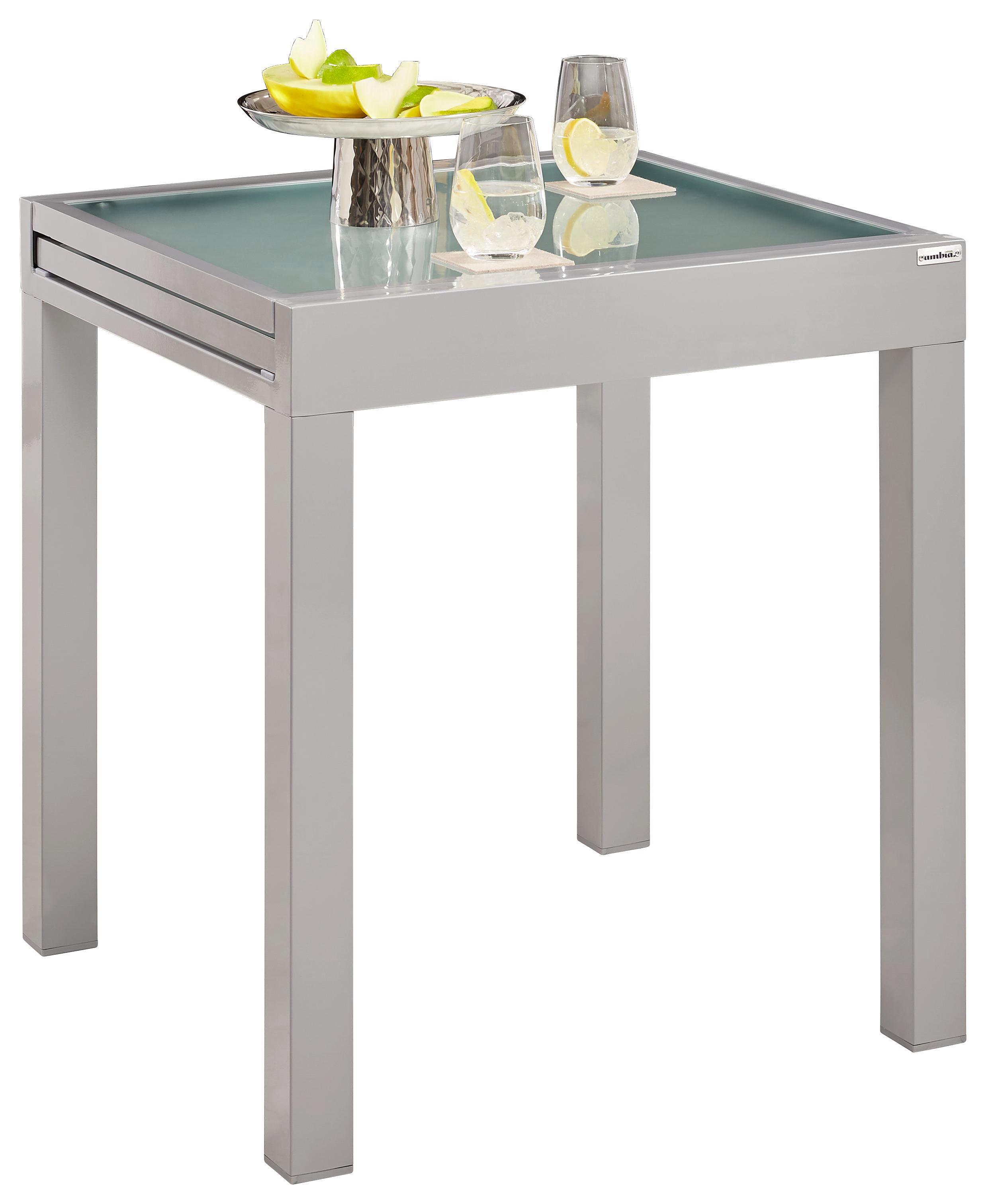 GARTENTISCH Glas, Metall Silberfarben - Silberfarben, Design, Glas/Metall (70-140/75/70cm) - AMBIA GARDEN