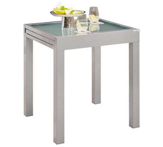 STOL VRTNI  boje srebra  metal, staklo      - boje srebra, Basics, staklo/metal (70(140)/70/75cm) - Ambia Garden