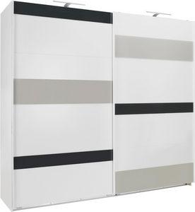 ORMAR - VISEĆA KLIZNA VRATA - Boja aluminijuma/Siva, Dizajnerski, Drvo/Metal (225/210/65cm) - Carryhome