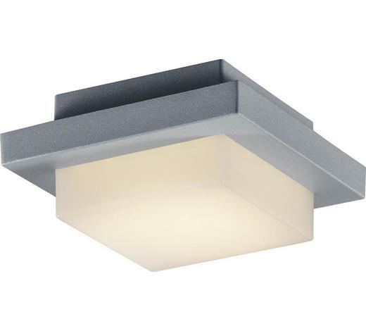 AUßENDECKENLEUCHTE - Weiß/Grau, Design, Kunststoff/Metall (14/6,5/14cm)