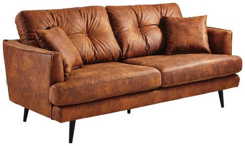 Zweisitzer Sofa Mit Kissen In Cognacfarben Shoppen
