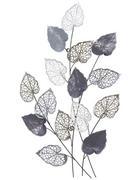ZIDNA DEKORACIJA - boje srebra, Trend, metal (59,7/87/5,7cm) - Ambia Home