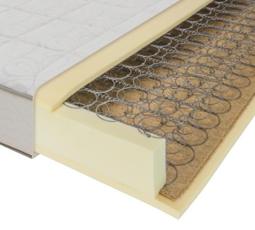 FEDERKERNMATRATZE  - Weiß, Basics, Textil (90/23/200cm) - Joka