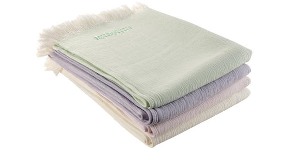 WOHNDECKE 130/170 cm  - Flieder/Weiß, KONVENTIONELL, Textil (130/170cm) - Ambiente