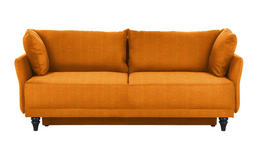 SCHLAFSOFA in Textil Gelb, Orange  - Gelb/Schwarz, MODERN, Holz/Textil (220/97/104cm) - Novel