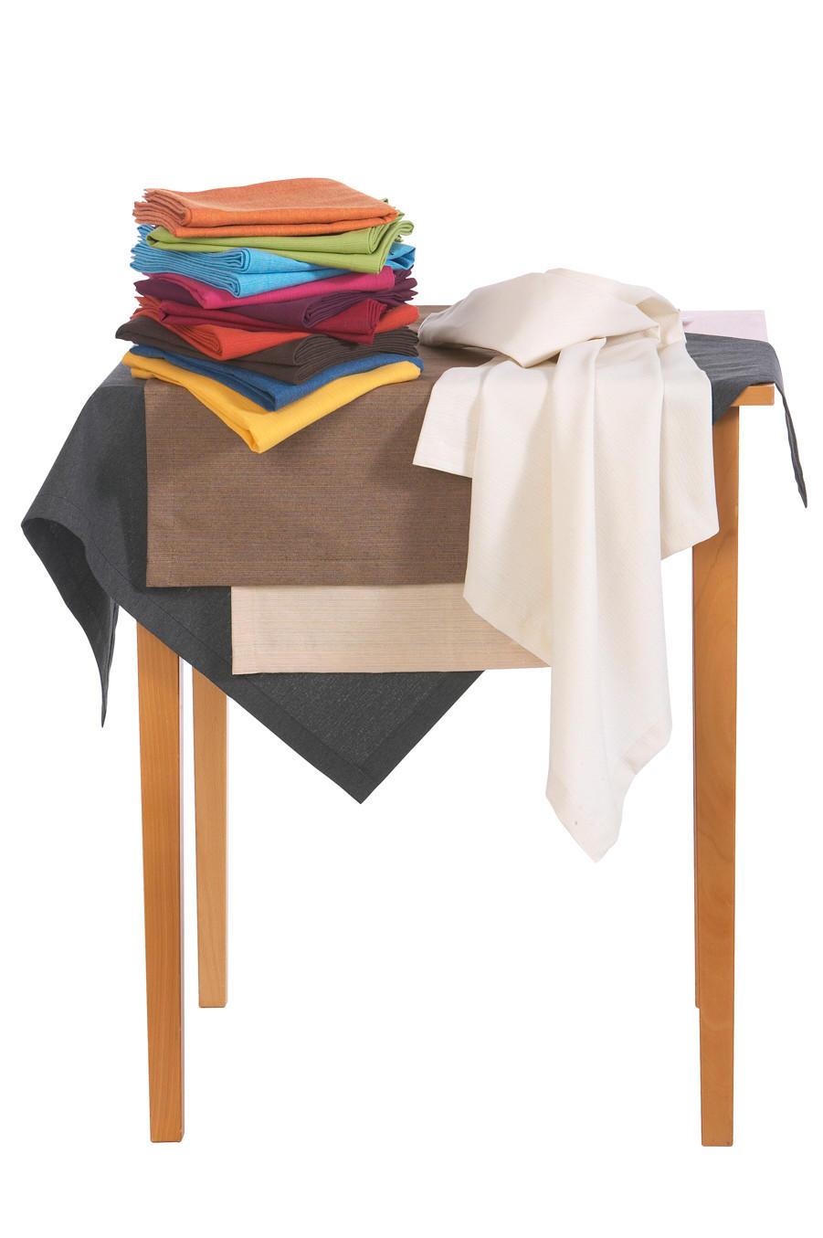TISCHDECKE Textil Leinwand, Struktur Grün 160 cm - Grün, Textil (160cm) - NOVEL