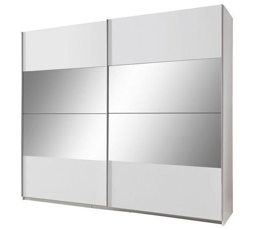 SCHWEBETÜRENSCHRANK 2-türig Weiß  - Weiß, Design, Glas/Holzwerkstoff (270/210/65cm) - Carryhome