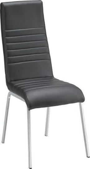 STOL - kromfärg/svart, Design, metall/textil (43/100/58cm) - Carryhome