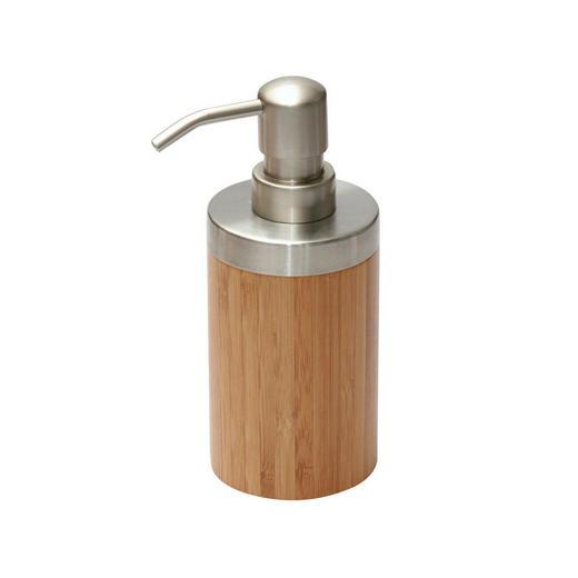 SEIFENSPENDER - Naturfarben, Holz/Metall (6,5/16,5cm)
