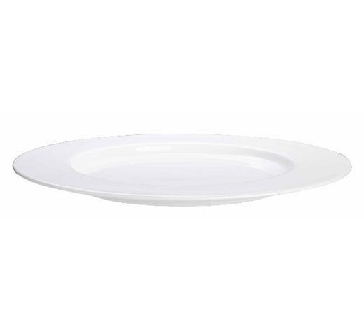 Fine Bone China  DESSERTTELLER  rund - Weiß, Basics, Keramik (24cm) - ASA