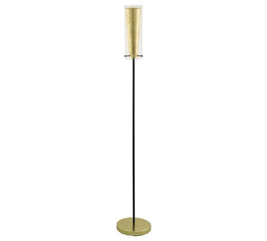 STEHLEUCHTE - Goldfarben/Schwarz, KONVENTIONELL, Glas/Metall (11/147cm)