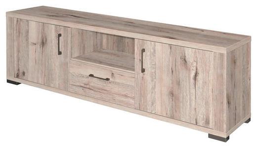 LOWBOARD Eichefarben - Edelstahlfarben/Eichefarben, Design, Holzwerkstoff/Kunststoff (192/62/45cm) - Carryhome