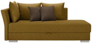 LIEGE in Gelb Textil - Chromfarben/Gelb, Design, Kunststoff/Textil (220/93/100cm) - Xora