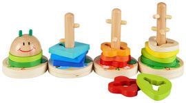 Steckpuzzle - Multicolor, Basics, Holz (33/12,5cm) - My Baby Lou