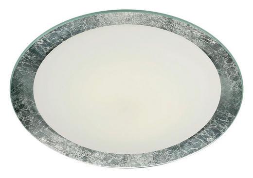 LED-DECKENLEUCHTE - Silberfarben, Design, Glas/Metall (50cm)