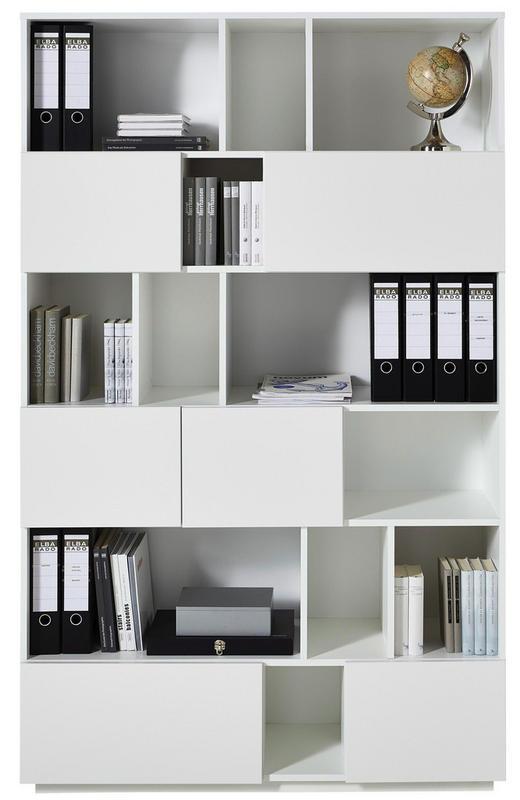 REGAL in Weiß - Weiß, Basics, Holzwerkstoff (120/194/36cm)