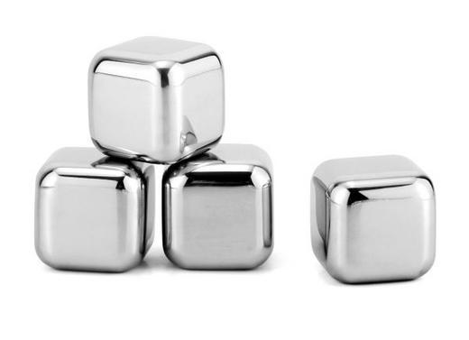 MEHRWEG-EISWÜRFEL - Silberfarben, Design, Metall - Homeware