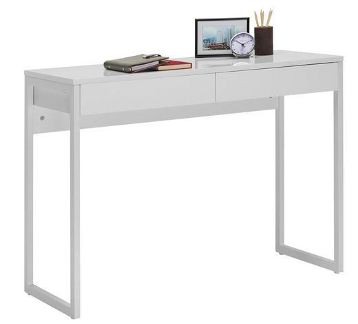 COMPUTERTISCH in Metall, Holzwerkstoff 102/76/40 cm  - Chromfarben/Weiß, Design, Holzwerkstoff/Metall (102/76/40cm) - Carryhome