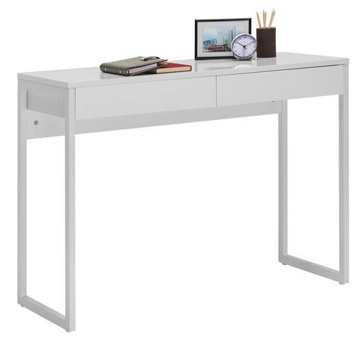 COMPUTERTISCH Chromfarben, Weiß - Chromfarben/Weiß, Design, Metall (102/76/40cm) - Carryhome