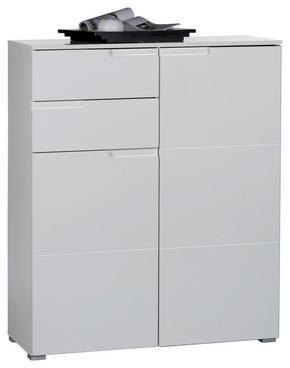 SIDEBOARD - vit/silver, Design, träbaserade material/plast (100/119/40cm) - Carryhome
