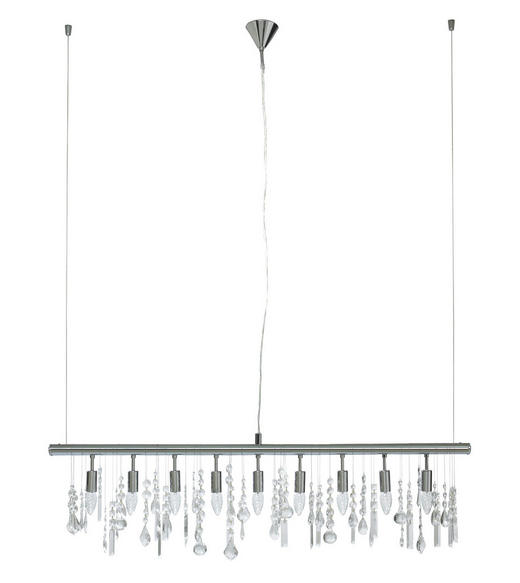 HÄNGELEUCHTE - Chromfarben, LIFESTYLE, Metall (120cm)
