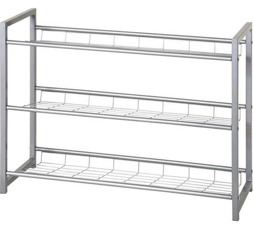 SCHUHABLAGE Alufarben  - Alufarben, Design, Metall (80/60/30cm) - Carryhome