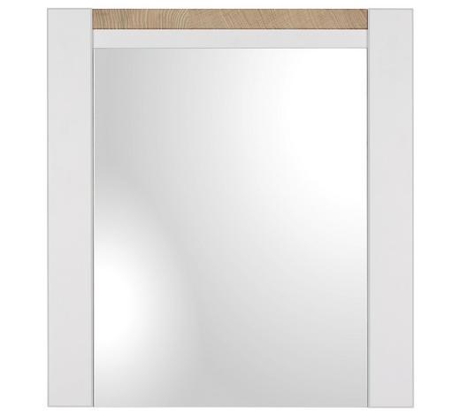 WANDSPIEGEL 64/70/3 cm - Eichefarben/Weiß, LIFESTYLE, Glas/Holzwerkstoff (64/70/3cm) - Landscape