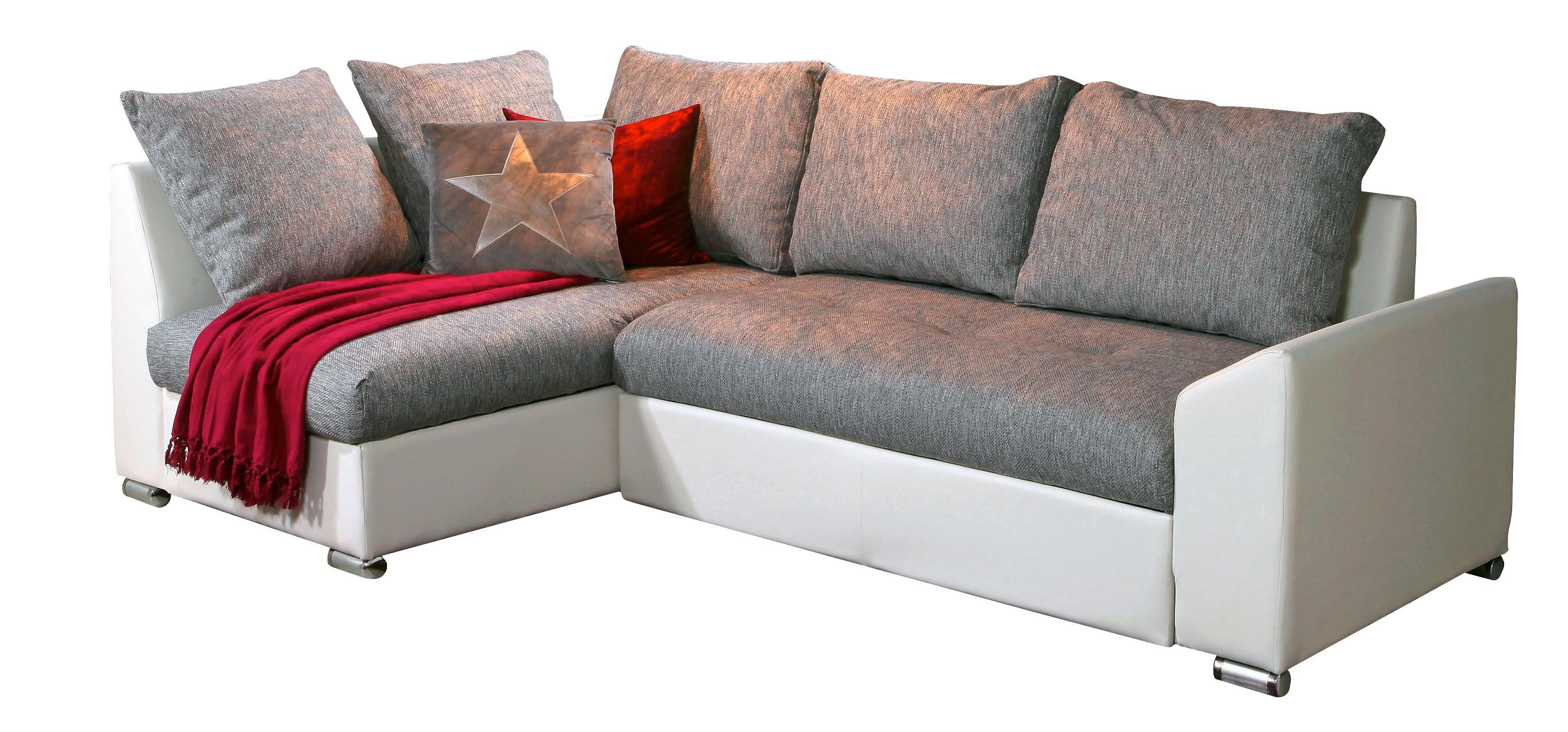 SEDEŽNA GARNITURA - siva/bela, Design, kovina/tekstil (240/150cm) - BOXXX