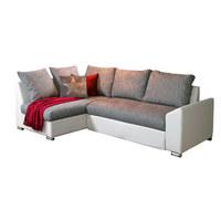 SJEDEĆA GARNITURA - bijela/siva, Design, drvni materijal/tekstil (240/150cm) - XORA