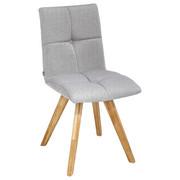 Stuhl in Holz, Textil Eichefarben, Hellgrau  - Eichefarben/Hellgrau, Konventionell, Holz/Textil (48/88/59cm) - Ti`me