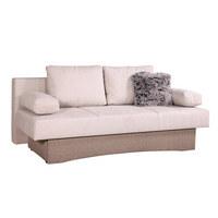 TROSED,  rjava, bež tekstil  - bež/rjava, Design, tekstil (200/80/90cm) - Boxxx