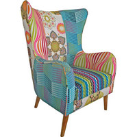 FOTELJ,  večbarvno les, umetna masa, tekstil - večbarvno, Design, umetna masa/tekstil (73/106/79cm) - Landscape