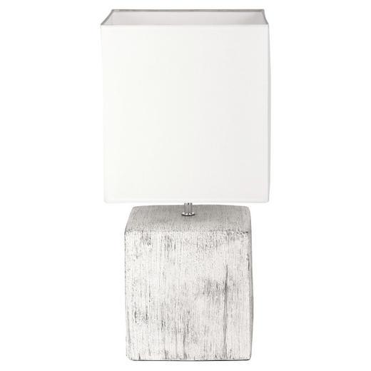 TISCHLEUCHTE - Weiß, LIFESTYLE, Keramik/Textil (52/25/25cm) - Novel