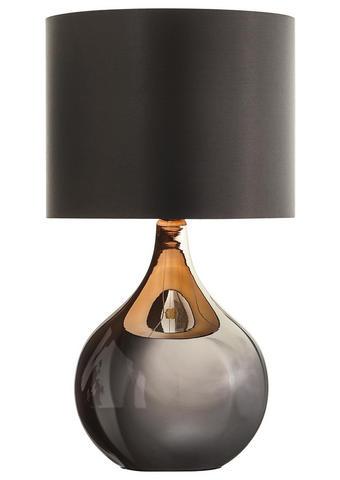 LAMPA STOLNÍ - černá, Design, kov/sklo (25/45cm) - Novel