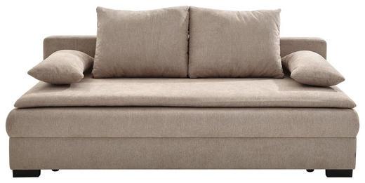 SCHLAFSOFA in Textil Beige - Beige/Schwarz, KONVENTIONELL, Kunststoff/Textil (207/74-94/90cm) - Venda
