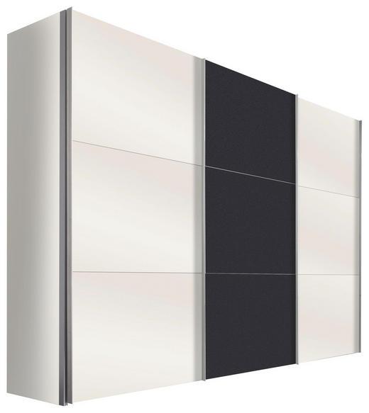 SCHWEBETÜRENSCHRANK in Graphitfarben, Weiß - Alufarben/Graphitfarben, Design, Holzwerkstoff/Metall (300/236/68cm) - Hom`in