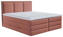 BOXSPRINGBETT 140/200 cm  in Altrosa  - Altrosa, Design, Holzwerkstoff/Kunststoff (140/200cm) - Xora