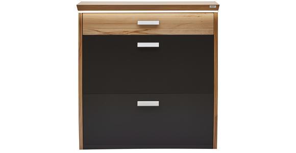 SCHUHSCHRANK 93/96/32 cm  - Silberfarben/Buchefarben, Design, Holz/Holzwerkstoff (93/96/32cm) - Dieter Knoll