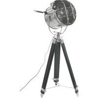 STEHLEUCHTE - Schwarz, Design, Glas/Holz (30/130/51cm) - Kare-Design