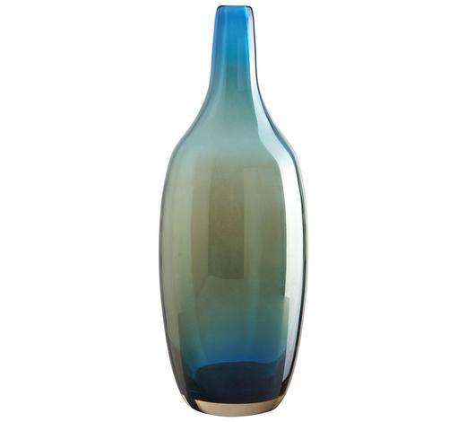 VÁZA, tyrkysová - tyrkysová, Basics, sklo (32cm) - Leonardo