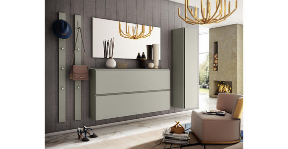 GARDEROBENPANEEL 10/165/3 cm  - Taupe, Design, Holzwerkstoff/Metall (10/165/3cm) - Moderano