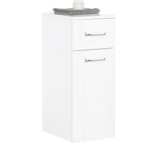 UNTERSCHRANK Weiß  - Chromfarben/Weiß, KONVENTIONELL, Glas/Holzwerkstoff (30/75/38cm) - Xora
